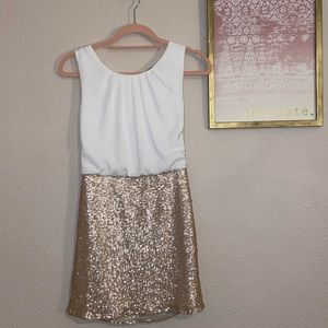NEVER WORN White and Rose Gold Dress